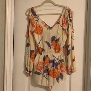 Billabong Floral Romper - Long Sleeve size small